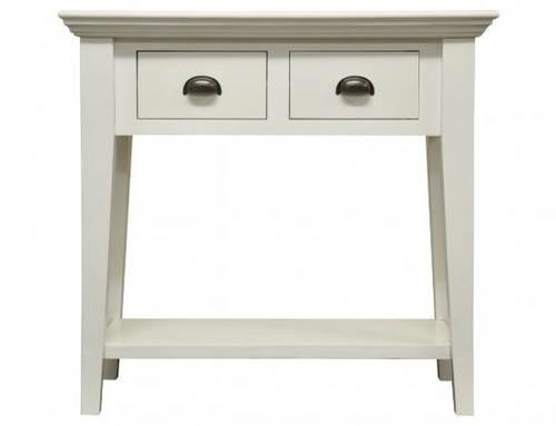 DELAN (WW-093) CONSOLE TABLE WITH 2 DRAWERS - 760(H) X 800(W) X 320(D) - ANTIQUE WHITE