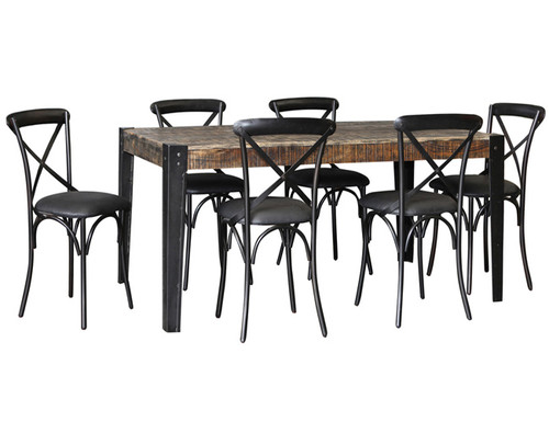 CITY LIVING 1780 DINING TABLE ONLY  1785(W) X 905(D) - BLACK DISTRESSED