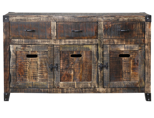 CITY LIVING SIDEBOARD BUFFET - BLACK DISTRESSED