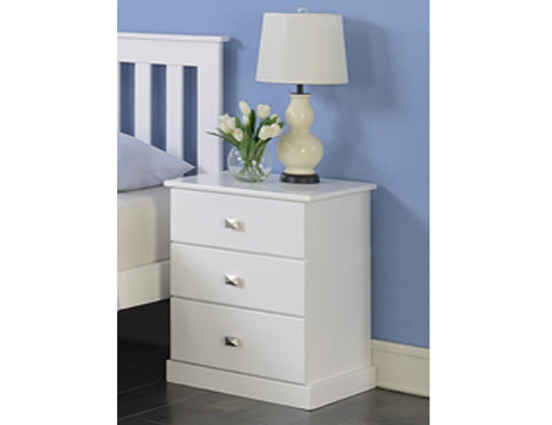 CHARLESTON (18-9-22-5-18-23-15-15-4) BEDSIDE TABLE - WHITE