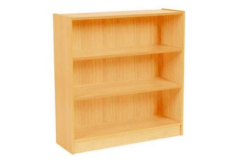 SQUARE EDGE (9X9) BOOKCASE - 882(H) x 900(W) - BEECH OR WHITE