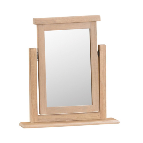 DOVIA (LO-VM) TRINKET MIRROR- WASHED OAK