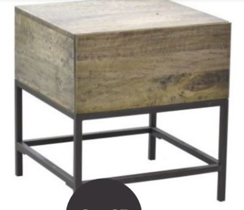GOMEZ BEDSIDE TABLE WITH 1DRAWER(WPTN-003) -  DISTRESSED NATURAL