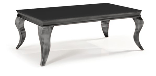 CHATEAU COFFEE TABLE-  450(H) x 1200(W) x 700(D) - BLACK / NICKEL