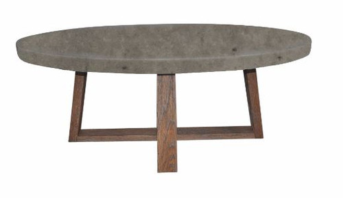 COPACABANA ROUND LAMP TABLE WITH CONCRETE  LOOK MDF TOP