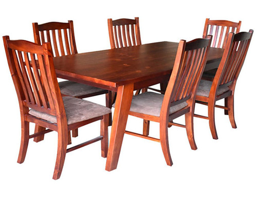 DENVER 7 PIECE DINING TABLE WITH 1800(W) x 900(D) DINING TABLE - AS PICTURED