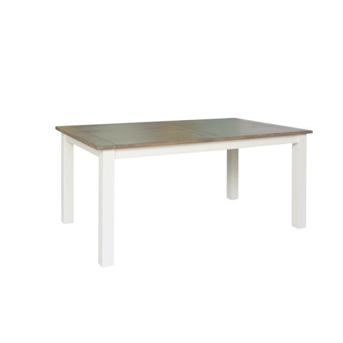 BRIGHTON  DINING  TABLE ONLY - 2100(W) X 1100(D)  - WEATHERED GREY / COTTON WHITE