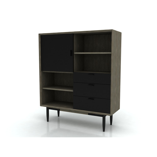 ALBA  HIGH BOARD WITH 3 DRAWER /  1 DOOR  -  1200(W) -  2 TONE