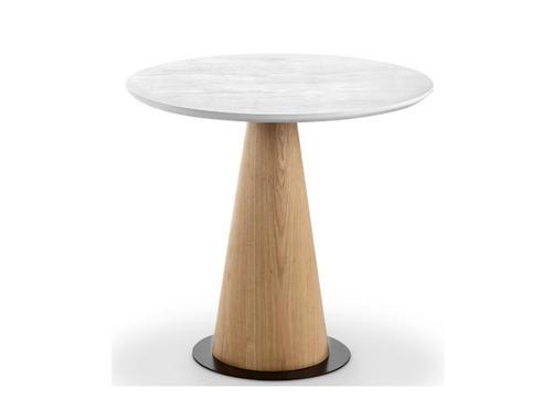 DALLIN   COFFEE  TABLE   450(H) X 500(Dia)TALL - ASH + WHITE