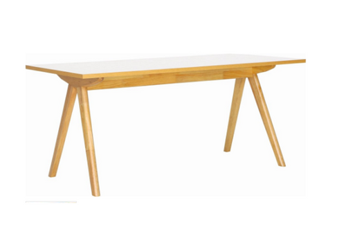 ADEN   DINING  TABLE - 1600(W) x 850(D)  - OAK + WHITE