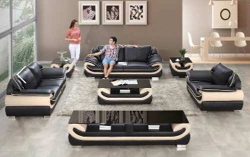 CAMELLIA PVC + GLASS COFFEE TABLE - 700(H) X 1200(W) X 420(D) -  AS PICTURED