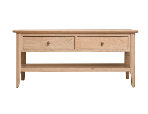 ROBINHOOD (NT-LCT)  COFFEE  TABLE WITH 2 DRAWERS  1200(W) - OAK