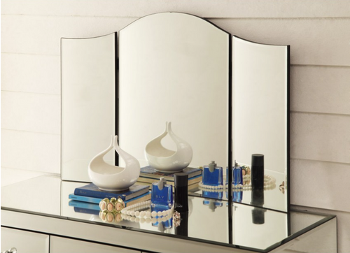 GRACE   TRI - FOLD  MIRROR  FOR DRESSING TABLE - SILVER