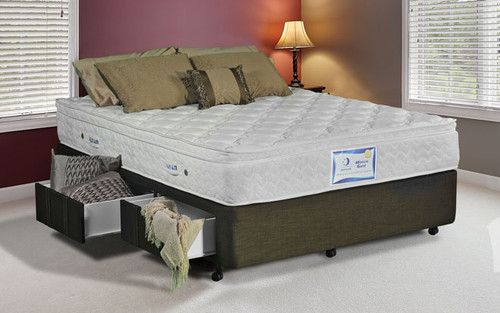 DOUBLE PREMIER 12'' EXTRA DEPTH BASE ONLY - 300MM DEEP - WITHOUT DRAWERS - LINEN FABRIC