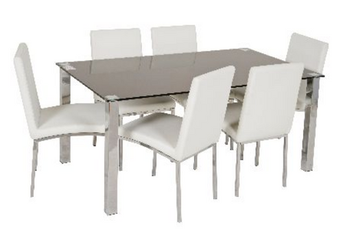 KIAMA  SEVEN (7)  PIECE DINING SETTING WITH 1600(W) X  900(D) TABLE
