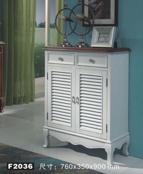 CHANDLER  760(W) DECORATIVE  2 DOOR  SHOE CABINET WITH 2 DRAWERS  (MODEL:F2035) - AS PICTURED