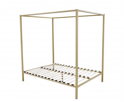QUEEN  4 POSTER METAL BED ( V63-819533) -   GOLD