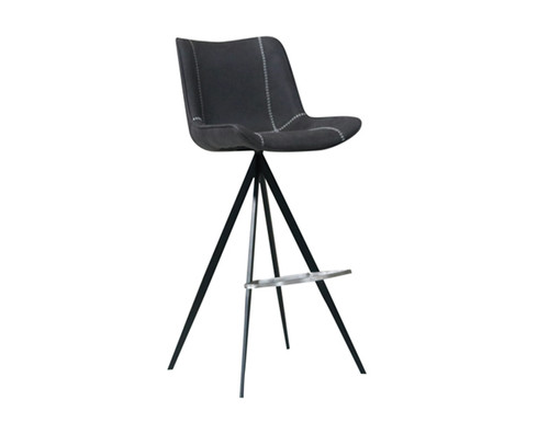 DURANT BLACK METAL POWDER COATING FRAME PU STITCHING BARSTOOLS - MODEL: 064 -BS  - AS PICTURED