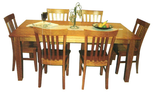 SQUARE DINING TABLE WITH 8 CHAIRS (NOT AS PICTURED)