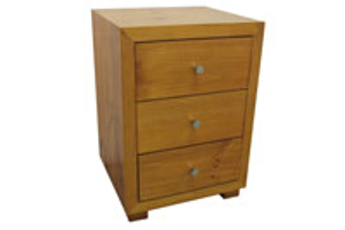 RETRO 3 DRAWER BEDSIDE- 690(H) - ASSORTED COLOURS AVAILABLE