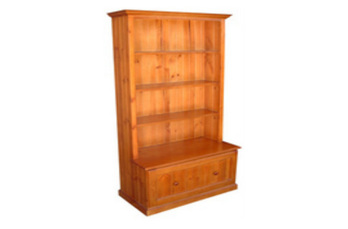 BOOKCASE COMBO + 1 DRAWER - 1800(H) X 900(W) - ASSORTED COLOURS