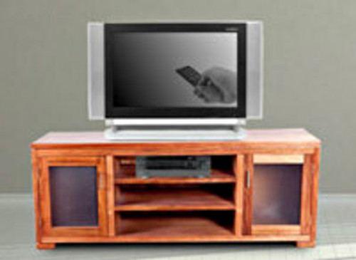HARDWOOD LOWLINE TV UNIT - ASSORTED COLOURS AVAILABLE
