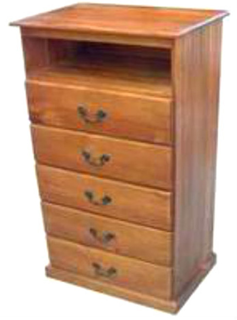TIMBER TV STAND WITH 5 DRAWERS - 620(W) -ASSORTED COLOURS AVAILABLE