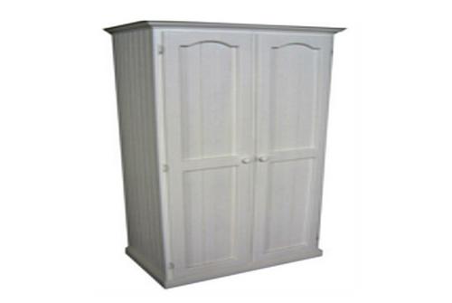 TIMBER 2 DOORS WARDROBE - 1800(H) X 900(W) - WHITE