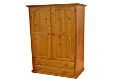MUDGEE WARDROBE WITH 2 DOORS & 2 DRAWERS -  1890(H) X 900(W)  - ASSORTED COLOURS AVAILABLE