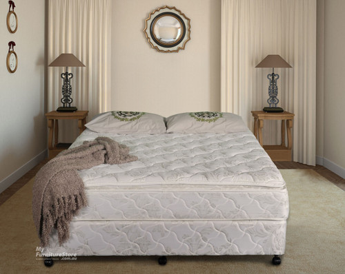 QUEEN ULTIMATE  PILLOW TOP ENSEMBLE (BASE & MATTRESS) - MEDIUM FIRM