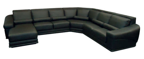 LEGEND CORNER SUITE WITH CHAISE - FULL LEATHER - ASSORTED COLOURS