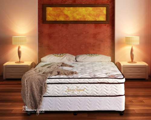 QUEEN LUXURY COMFORT POCKET SPRING ENSEMBLE (BASE & MATTRESS) WITH LATEX - FIRM