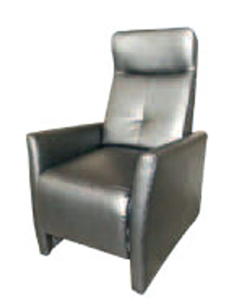 CLYDE (1095) PUSH BACK RECLINER CHAIR - LEATHER - BLACK OR CHOCOLATE