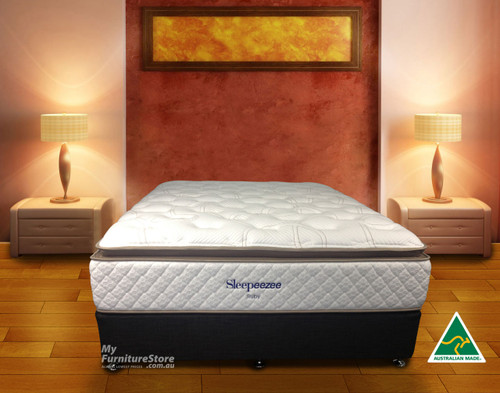 DOUBLE RUBY (MK3) PILLOW TOP POCKET SPRING MATTRESS WITH GEL INFUSED VISCO - FIRM