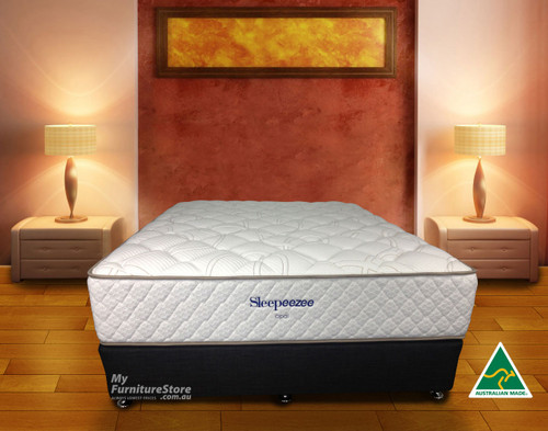 KING SINGLE OPAL POCKET SPRING + LATEX ENSEMBLE (BASE & MATTRESS) - CHOICE OF BASE COLOURS - MEDIUM