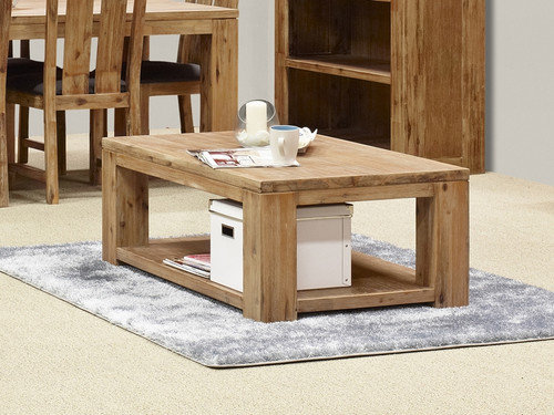 CLIFTON COFFEE TABLE (G3086) - 450(H) x 1200(W) x 700(D) - LIGHT BROWN