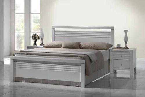 QUEEN DALLAS / FION BED - WHITE