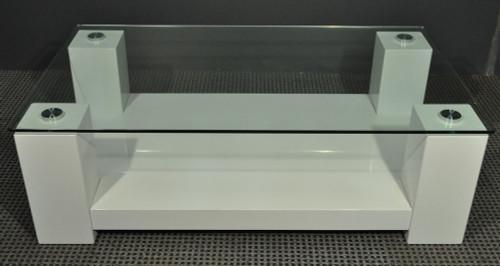 WINNIE RECTANGULAR COFFEE TABLE - 435(H) X 1380(W) X  800(D) - HIGH GLOSS WHITE