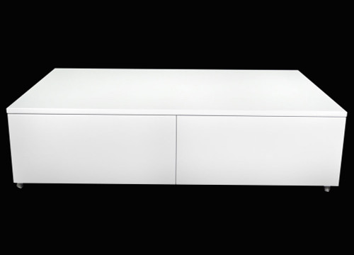 ISABELLA COFFEE TABLE - HIGH GLOSS WHITE