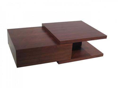 KATHERINE COFFEE TABLE - 372(H) X  1100(W) X  800(D) - WALNUT
