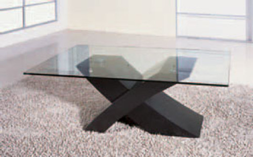 BARCELONA (G807) COFFEE TABLE -  480(H) X 1300(W) X 800(D) - BLACK OR BROWN