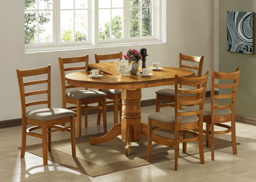 LANNICE 5 PIECE EXTENSION DINING SETTING (NOT AS PICTURED) - OPENS TO 1500(L) (MODEL 13-21-19-20-1-14-7) - UMBER