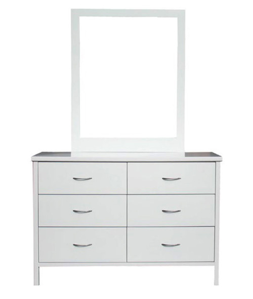 DALBY DRESSING TABLE WITH MIRROR - 890(H) X 1250(W)  - WHITE OR DARK CHOCOLATE