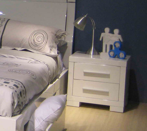 PRIMA BEDSIDE (BE-963)  - HIGH GLOSS WHITE