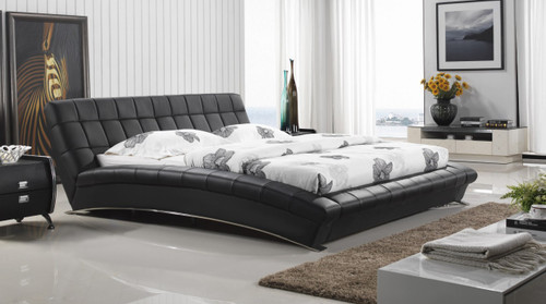 QUEEN VERONICA LEATHERETTE BED (8030) - ASSORTED COLOURS