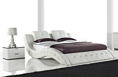 QUEEN ALESSANDRA LEATHERETTE BED (3012) - ASSORTED COLORS