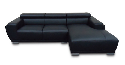 GINA 6 SEAT CORNER FULL LEATHER CHAISE (NOT AS PICTURED)