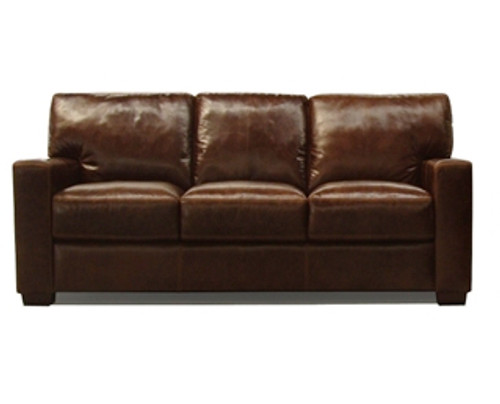 PORTMAN 2 SEATER FULL LEATHER SOFA (NOT AS PICTURED)