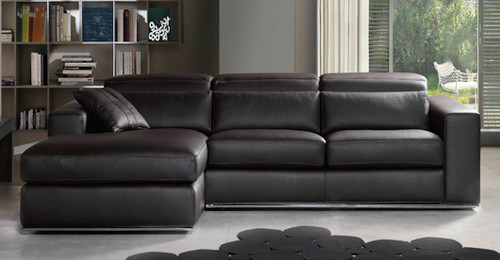VICENZA 3 SEATER FULL LEATHER CHAISE(ITALIAN M1/S)
