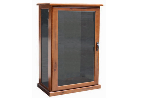 EVEREST SMALL DISPLAY CABINET - ANTIQUE OAK